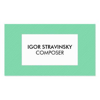 Randig grön modern visitkortmall set av standard visitkort