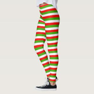 Randig juldamasker leggings