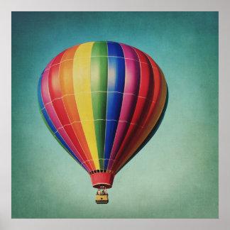 Randig luftballongaffisch poster