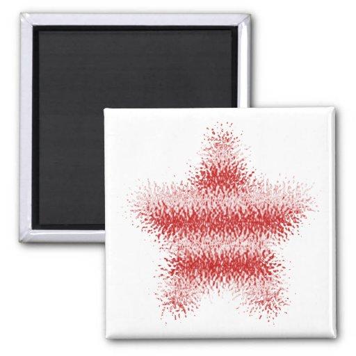 Randig magnet (för röd & vit) USA skev stjärna Kylskåpsnagnet