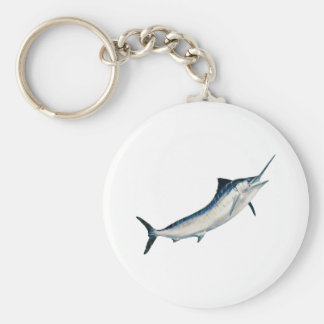 Randig Marlin Rund Nyckelring