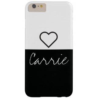 Randig svart- & för vit | anpassadetext & stilsort barely there iPhone 6 plus skal