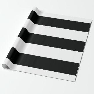 Randig (svart- & för vit   vågrät) anpassade presentpapper