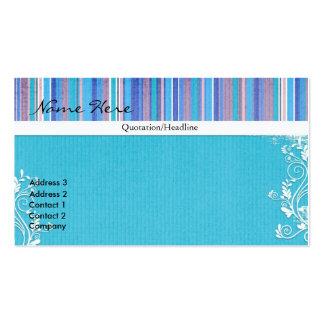 Randig visitkort för tillfälliga blått
