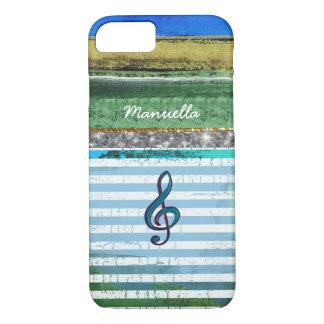 randiga iPhone-6 med musikal-noterar & personligen
