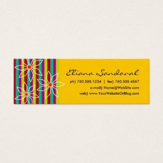 Randiga telefonkort för blommigt litet visitkort