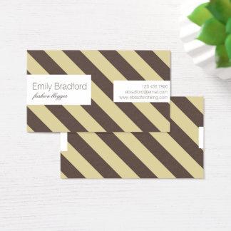 Randiga visitkortar för beige och för brunt visitkort