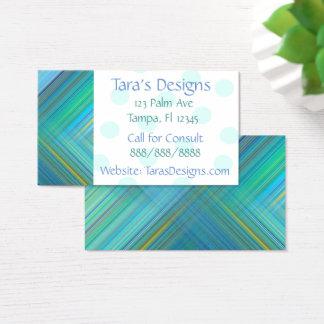 Randiga visitkortar för blåttgrönt visitkort