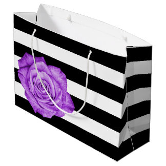 Randigt bröllop för modern vit för lilarosvart