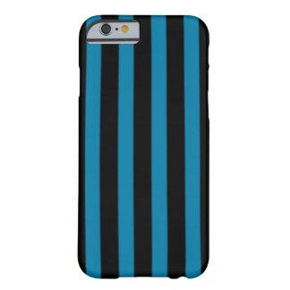 Randigt fodral för svart och för blått barely there iPhone 6 skal