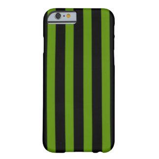 Randigt fodral för svart och för grönt barely there iPhone 6 fodral