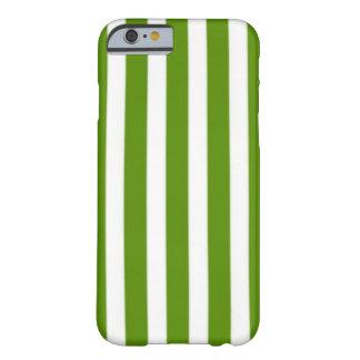 Randigt fodral för vit och för grönt barely there iPhone 6 skal