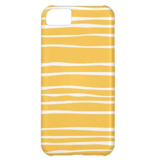 Randigt Iphone 5S för gul funky fodral iPhone 5C Fodral