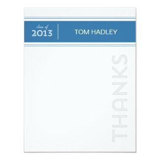 Randigt kort för typstudententackkort 10,8 x 14 cm inbjudningskort