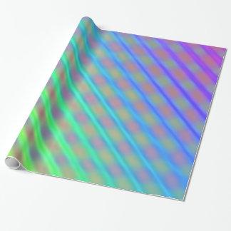 Randigt slående in papper: Neon färgar randar Presentpapper