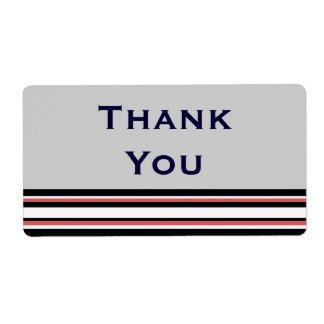 randigt tack för röd vit fraktsedel