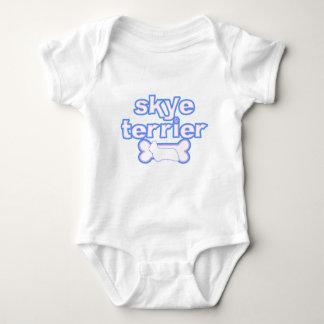 Ranka för baby för rosa- & blåttSkye Terrier T-shirt