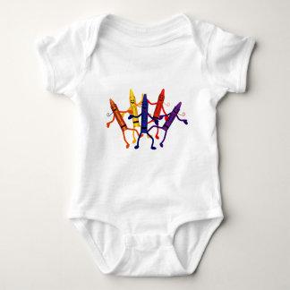 Ranka för Crayonpartyspädbarn T-shirts