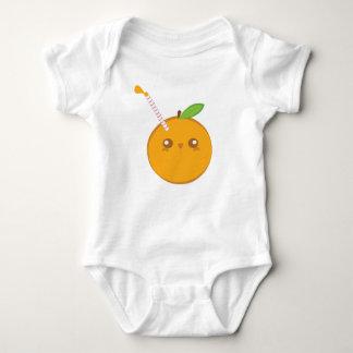 Ranka för gullig baby för Lil' puttefnask orange Tee Shirt