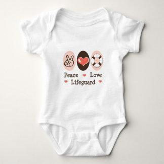 Ranka för spädbarn för fredkärleklivräddare t shirts