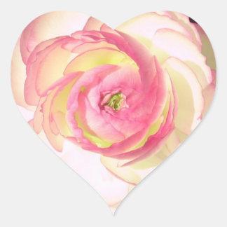 Ranunculushjärtaklistermärke Hjärtformat Klistermärke