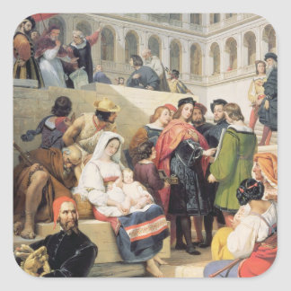 Raphael i Vaticanen, 1832 (olja på kanfas) Fyrkantigt Klistermärke