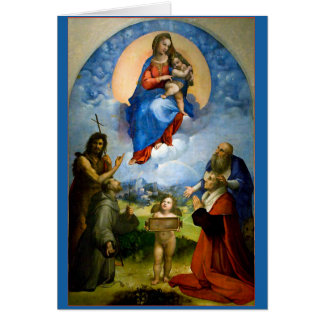 Raphael Madonna & barnjulkort Hälsningskort