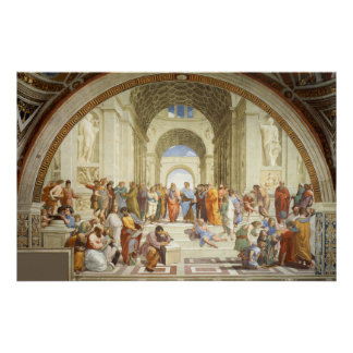 RAPHAEL - Skola av Athens 1512 Poster