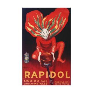 Rapidol polsk spansk Adverting affisch för metall Canvastryck