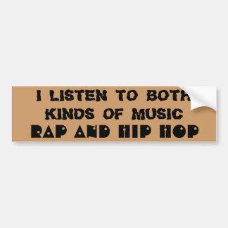 Rappa och hip hopmusik bildekal