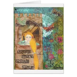 Rapunzel som drömm hälsningskort