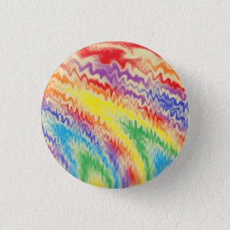 Rasa regnbågen avfyra linjer mini knapp rund 3.2 cm