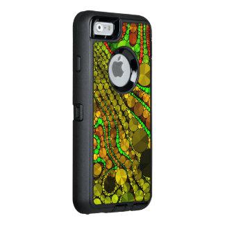 Rasta abstrakt Bling mönster OtterBox Defender iPhone Skal