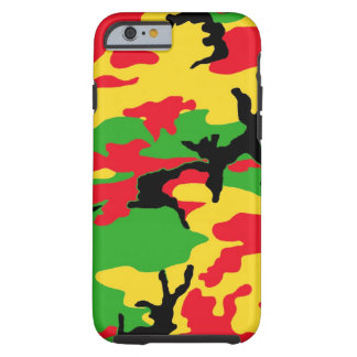 Rasta färgadkamouflage tough iPhone 6 case