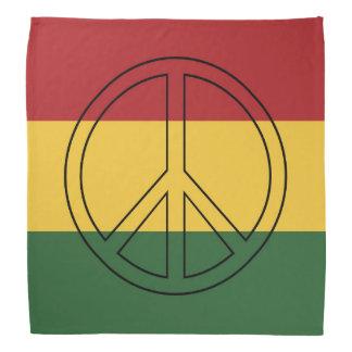 Rasta färgar fred scarf