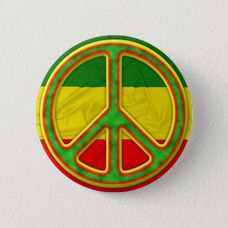 Rasta fredsymbol standard knapp rund 5.7 cm