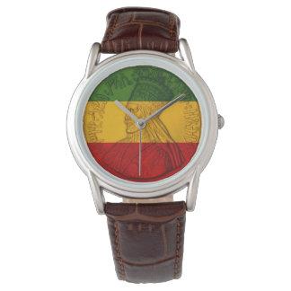 Rasta Haile Selassie klockaRastafarian färger Armbandsur