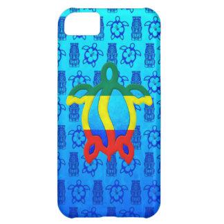 Rasta Honu blått Tiki iPhone 5C Fodral