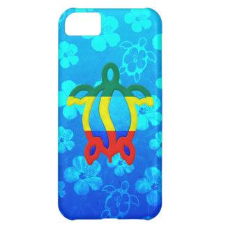 Rasta Honu blåtthibiskus iPhone 5C Fodral