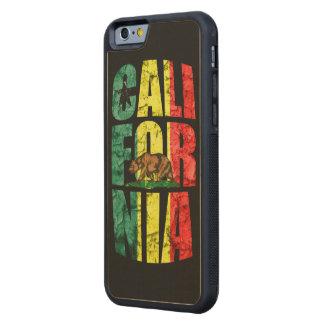 Rasta Kalifornien Carved Lönn iPhone 6 Bumper Skal