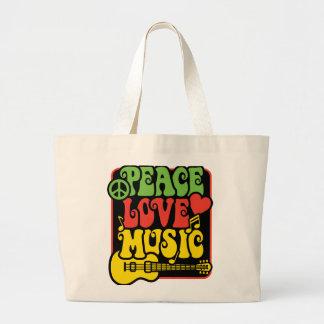 Rasta PEACE-LOVE-MUSIC Jumbo Tygkasse
