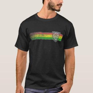 Rasta Reggaerandar med skyddar av David T-shirt