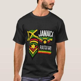 Rastafarian för ReggaeRasta svart T-tröja färger Tee