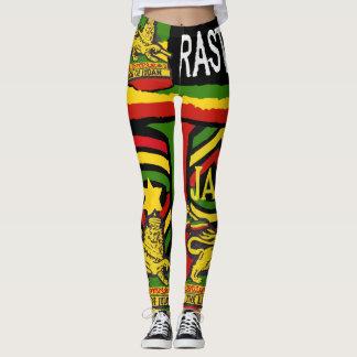 Rastafarian för ReggaeSteppersdamasker designer Leggings
