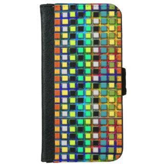 Raster-Belagt med tegel färgrikt Plånboksfodral För iPhone 6/6s