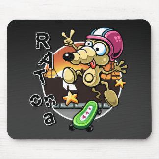 Råtta på en Skateboard Mousepad Musmatta