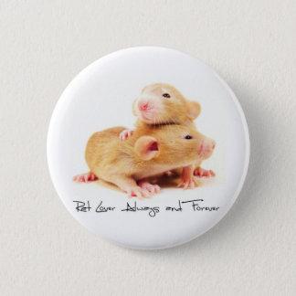 Råttaälskare alltid och för evigt standard knapp rund 5.7 cm