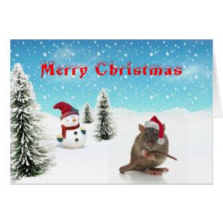 Råttajulkort Hälsnings Kort
