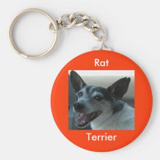 RåttaTerriernyckelring Rund Nyckelring