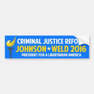 Rättvisa 2016 för Gary Johnson en som tror på Bildekal